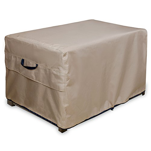 ULT Cover Patio Deck Box/Storage Bench Cover, 100% Waterproof Outdoor Coffee Table Cover and Ottoman Covers 52 x 26 (Outdoor Rectangular Coffee Table)