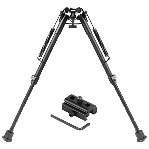 (Twod Hunting Rifle Bipod - 9 Inch to 13 Inch Adjustable Super Duty Tactical Rifle Bipod + Rail Mount Adapter)