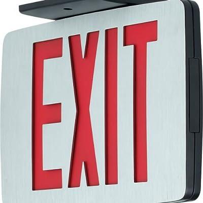 Progress Commercial PEALE-SR-EM-16 LED Exit Sign, Die-Cast Aluminum
