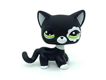WOOMAX Littlest Pet Shop Juguete LPS Raro Negro Pelo Corto ...
