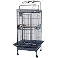 Flyline Classico Play Top Bird Parrot Cage for Parrot Cockatiel Cockatoo Parakeet L80xW75xH165cm (Small)