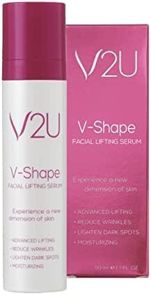 V2U Facial Anti Aging Serum | Natural Anti Wrinkle and Acne Hyaluronic Acid and Retinol Serum | Face Skin Lifting, Firming & Moisturizing Care | Boost Collagen, Brightening & Tightening Serum | 1pc