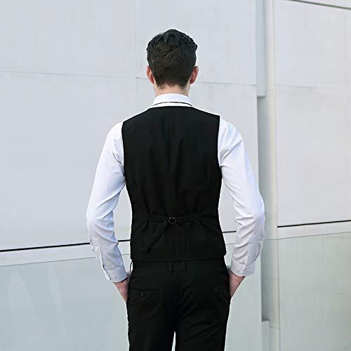 Nuziale Cerimonia Slim Business Qscg Casual Gilet Black Uomo Da xw0CRvqH