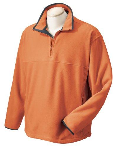 Chestnut Hill Microfleece Quarter-Zip Pullover - Sienna CH910 M Fleece Microfiber Sweater