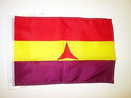 AZ FLAG Bandera ESPAÑA Republicana BRIGADAS INTERNACIONALES 45x30cm - BANDERINA DE LA Republica ESPAÑOLA 30 x 45 cm cordeles: Amazon.es: Hogar
