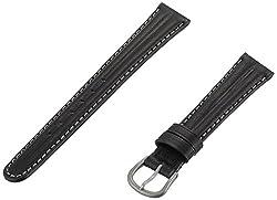 Momentum ZC-14AQU BLACK 14mm Aqua Leather Calfskin Black Watch Strap