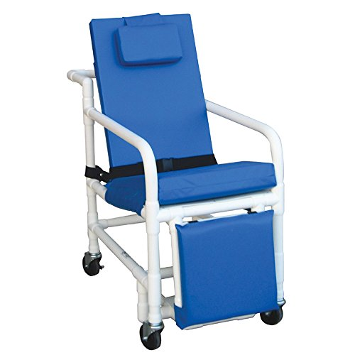 MJM 524-SL Geriatric Chair, Royal Blue/Forest Green/Mauve...