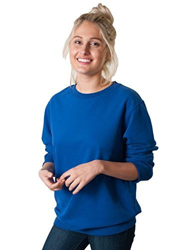 (GCKNITWEAR'S Unisex Suede Touch Soft Thick Pullover Sweatshirt (Large, Royal Blue))