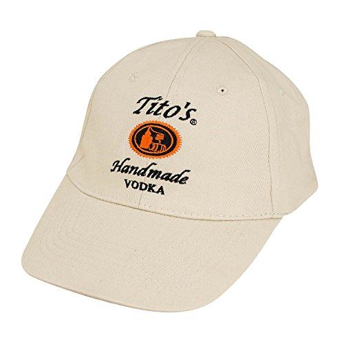 (Tito's Vodka 6 Panel Hat Tan)