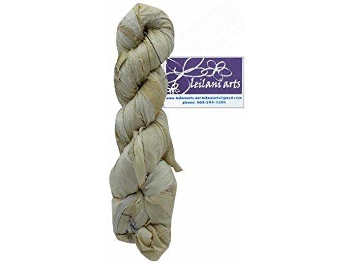 Leilani Arts LEI804892 Silk Ribbon 60yd Ivory Silk Ribbon Natural (Ivory Sari)