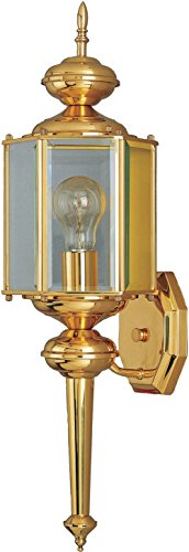 Maxim 4623CLBP, Maxim Incandescent Outdoor Wall Mount, 1 Light, 60 Watts, Brushed Pewter
