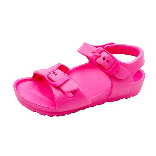 Toddler and Girl's Waterproof Sandal with Adjustable Straps and Buckles | EVA Upper Material and Odor Resistant Footbed with Arch Support | Flexible and Lightweight Synthetic Midsole S 5/6 ()