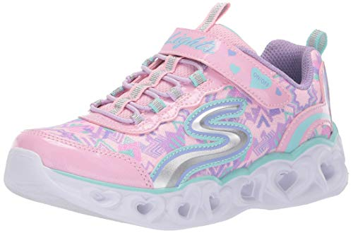 Skechers Kids Girls' Heart Sneaker, Light Pink/Multi, 6 Medium US Toddler