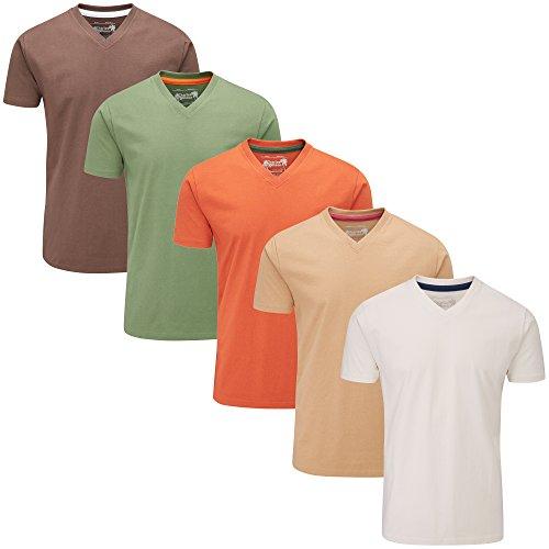 T Wilson Earth Unis Col Mixed De Charles shirts 5 À Pack V adAqdFwI