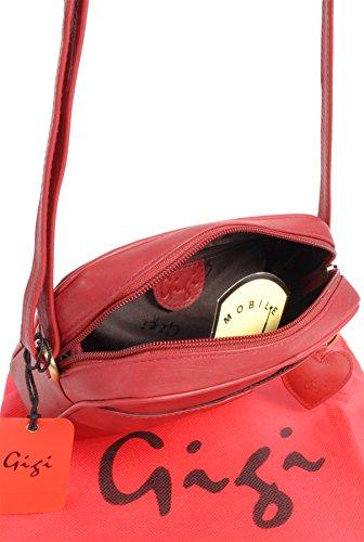 Bandolera Bolso bolso Pequeño Gigi Hombro Oth22 Cuero De 29 Rojo OS44n1xwW