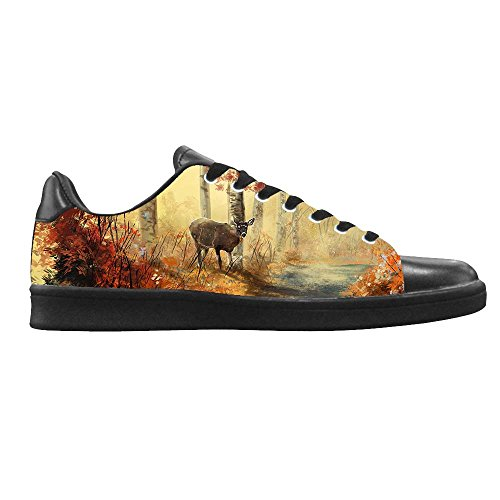 Dalliy kunst hirsch Mens Canvas shoes Schuhe Lace-up High-top Footwear Sneakers B