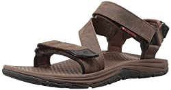 Columbia Men's Big Water Leather Athletic Sandal, Tobacco, Super Sonic, 7 D US