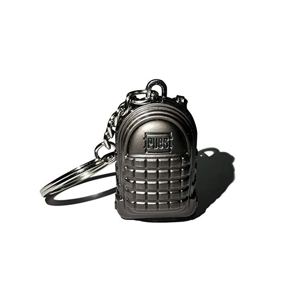 Pubg Backpack keychain Metallic Black india 2020