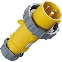 rot IP 67/Schutz 3809/Power Top Plug mit externe Zugentlastung 400/V 16/A Unternehmen 4/Pole Mennekes 6/Stunden Earth Position