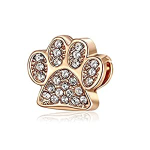 Animal Paw Spacer Charm Pendant by Crystal H Brand for Charms Style Bracelet