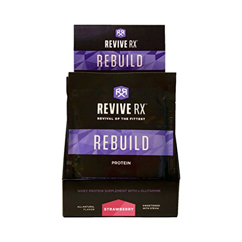Revive Rx Rebuild Whey Protein Isolate Singles 39 grams Each (8 Pack), Strawberry