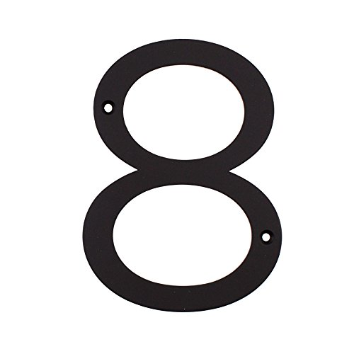 MAYKKE Hugo Stainless Steel House Number 8 Two Finishes to Choose from Decorative & Functional Curb Appeal Matte Black OYA1100801