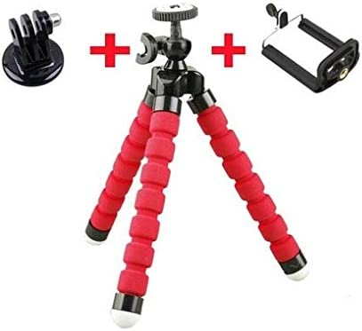 Color : Blue Mobile Tripod Bracket Accessories Jusun 1Pc Octopus Camera Tripod with 2 PC//Adapter for Sj4000 Camera Hero 3 3 2