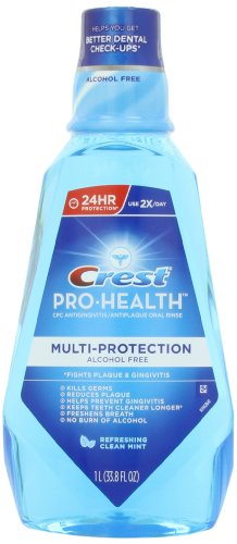 Crest Pro-Health Multi-Protection Refreshing Mouthwash, Clean Mint (Mouthwash Flouride)