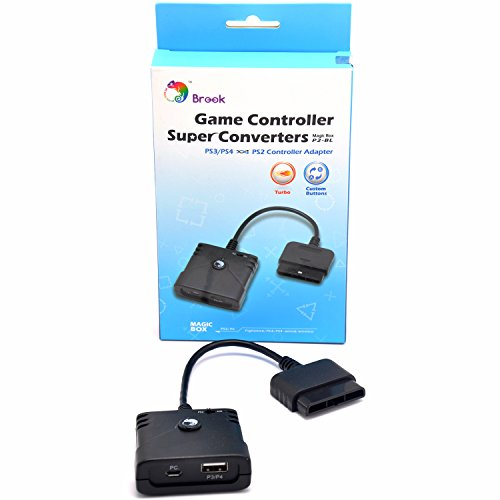 Brook Super Converter Adapter: PS3/PS4 to PS2 Controller Adapter use PS3/PS4 Gamepad or Arcade stick on - Com Steering Wheel Playstation