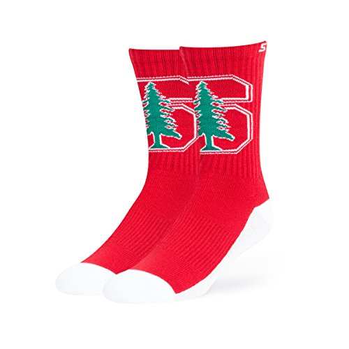 Gear Cardinal Stanford (OTS NCAA Stanford Cardinal Anthem Sport Socks, Large, Ultra Red)