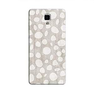 Cover It Up - Pebble Print Grey Mi4 Hard Case