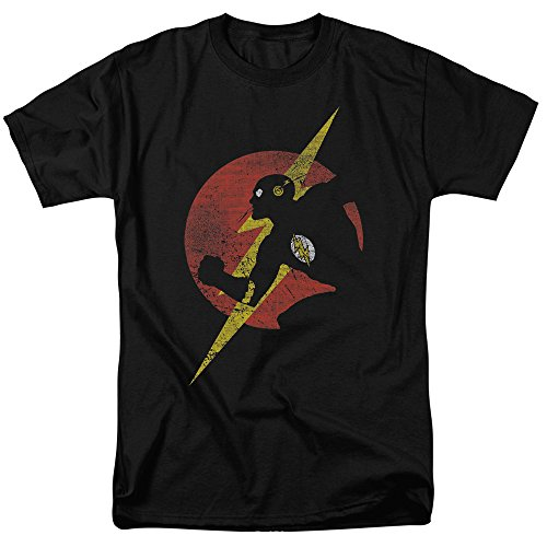 Justice League Of America DC Comics The Flash Symbol Knockout Adult T-Shirt 3XL]()