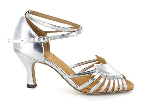 Dance Chaussures 6721 Pour Tango Salle Minitoo Collection Femmes Salsa Tango Larges Et Argent De Manger qnwXng5