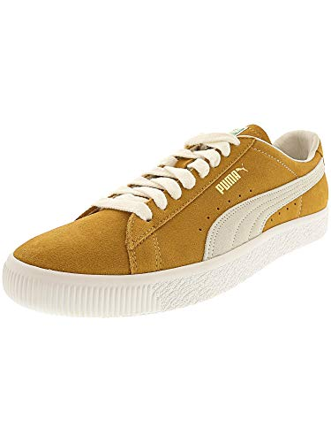 - Puma Men's Suede 90681 Honey Mustard/White Ankle-High Fashion Sneaker - 11.5M