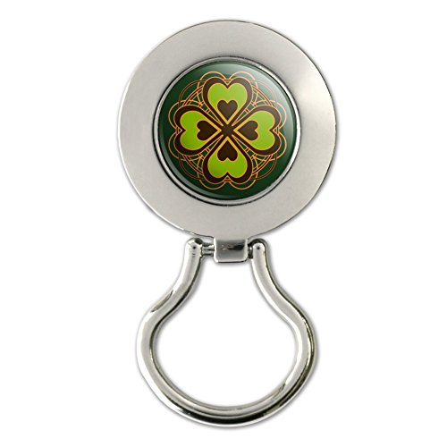 Four Leaf Clover Lucky Magnetic Metal Eyeglass ID Badge - Glasses Id