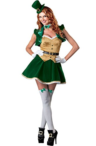 Lucky Lass Costume - X-Large - Dress Size 16-18 ()
