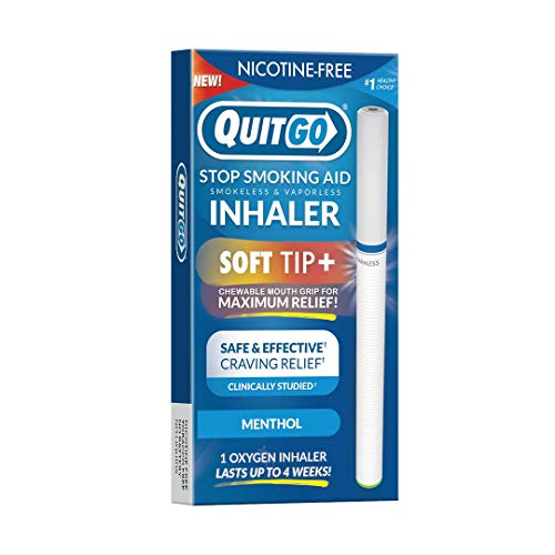 New Quit Smoking Aid Oxygen Inhaler + Soft Tip Chewable Filter, to Help Curb Cravings, Best Stop Smoking Aid, Fidget Aid for Oral Fixation Support-Relief (1 Pack, Menthol)