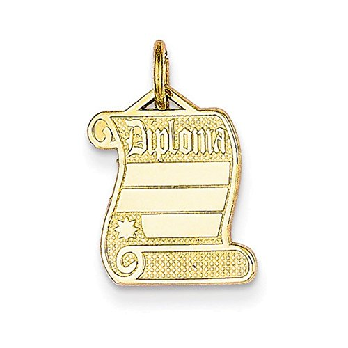 Jewelry Adviser Charms 14k Diploma Charm