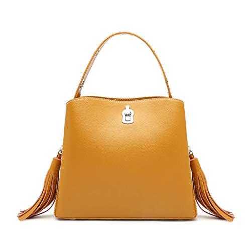 seau femme Messenger bandoulière Tassel Bag Sac Sac Lxf20 Le pour à main Sac PU à Sac Jaune AEnqAUw0Y