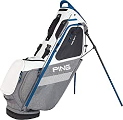 Keep your energy up during your round when you have the PING 2018 Hoofer 14 Stand Golf Bag. Easy-adjusting shoulder pads use SensorCool Technology to wick away moisture, partnering with the strap connector to provide the ultimate in carrying ...