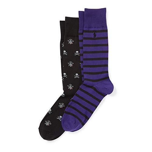 (Polo Ralph Lauren Men's 2 Pack Pirate and Skull Socks (Black))