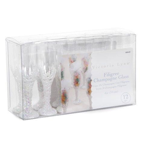 Mini Champagne Glass Favor Filigree