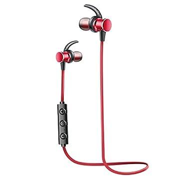 SiKER Auriculares inalámbricos magnéticos Bluetooth Deporte Auriculares In-Ear a Prueba de Sudor 4 Horas