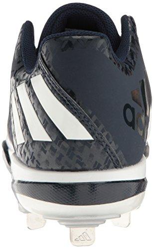 adidas Herren PowerAlley 4 Baseballschuh Collegiate Navy / Weiß / Silber Metallic