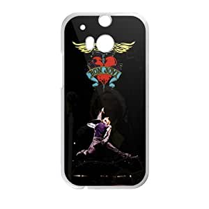 Happy Bon Jovi Heart And Dagger Logo Cell Phone Case for HTC One M8