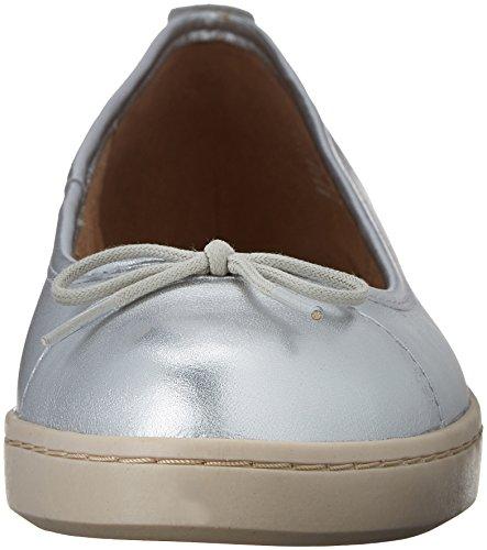 Clarks mujer Cordella alto Silver Leather