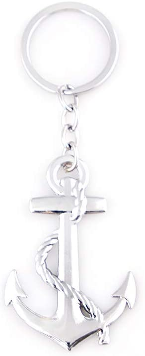 KKY-Best 1Pc 3D Anchor Key Chain Car Logo Metal Key Ring Couples Keychain
