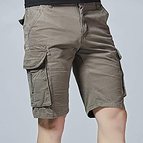 LANBAOSI Mens Hiking Cargo Shorts with Multi Pockets for Spring