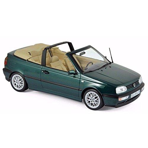 - NEW 1:18 W/B NOREV COLLECTION - Green Metallic 1995 Volkswagen Golf Cabriolet Diecast Model Car By Norev