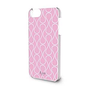 iLuv ICA7H307PNK Festival Chic Hardshell Case for Apple iPhone 5 and iPhone 5S - 1 Pack - Retail Packaging - Pink